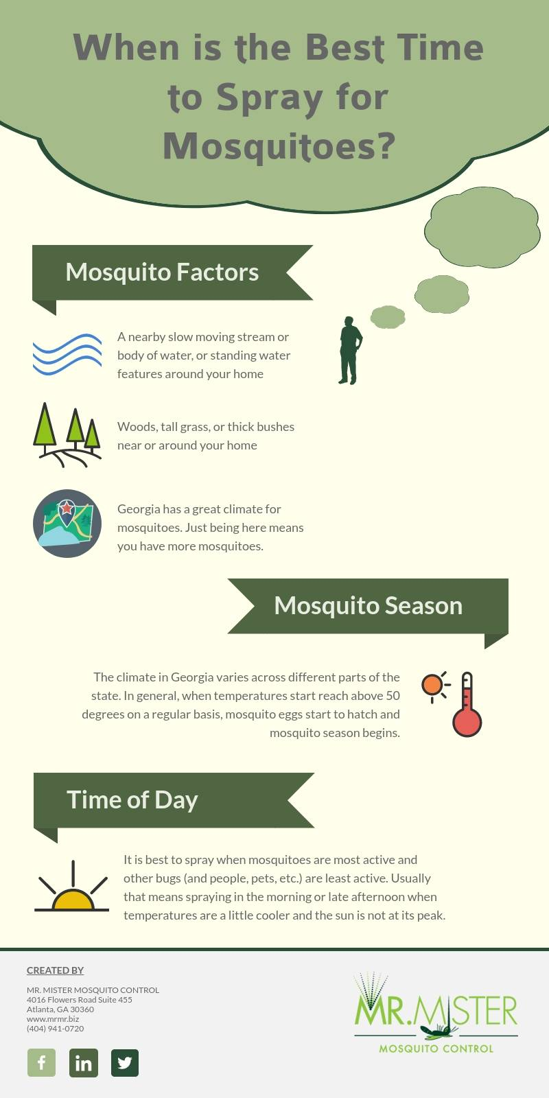 When is It Time to Spray for Mosquitoes [infographic]