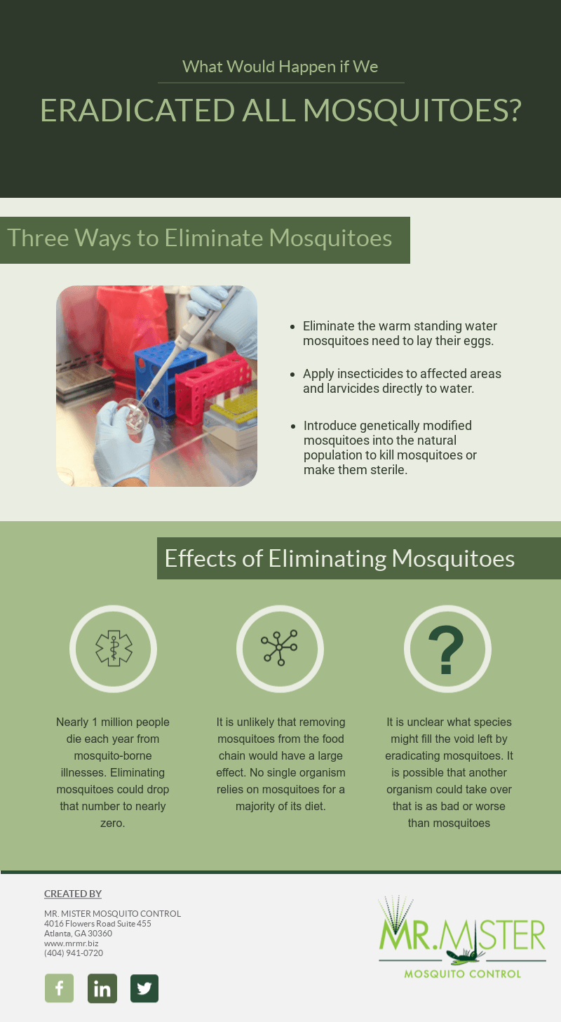 What Would Happen if We Eradicated All Mosquitoes [infographic]