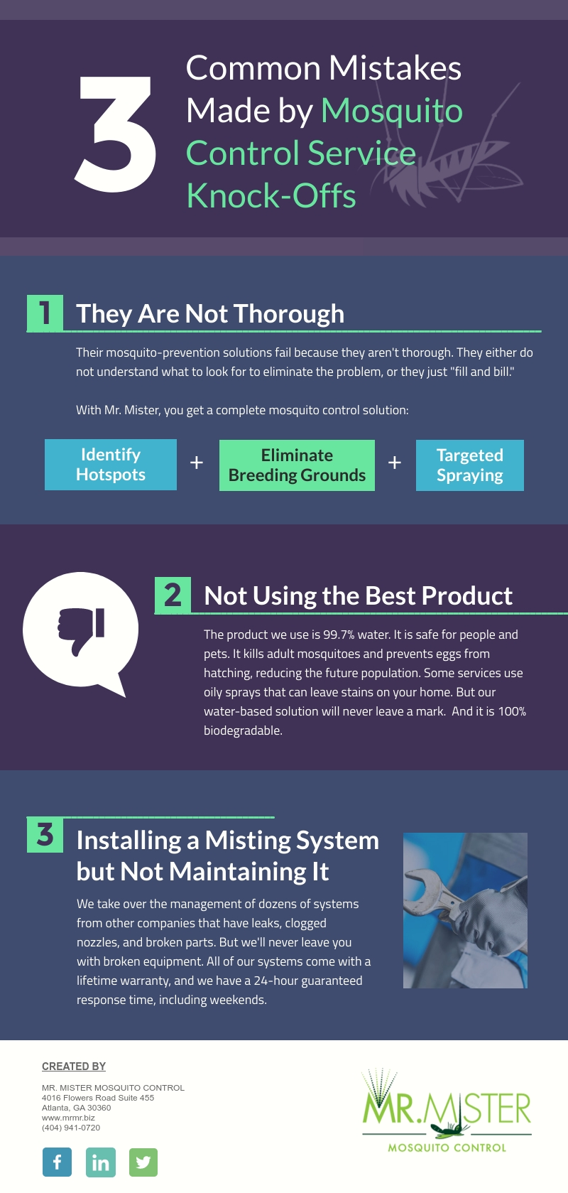 Common Mistakes Made by Mosquito Control Service Knock-Offs [infographic]